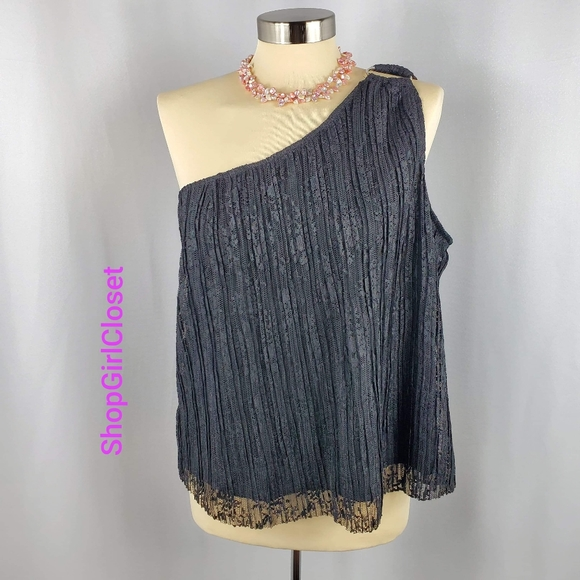 💥Just In💥Lily Black One Shoulder Top-Sz XL Jrs